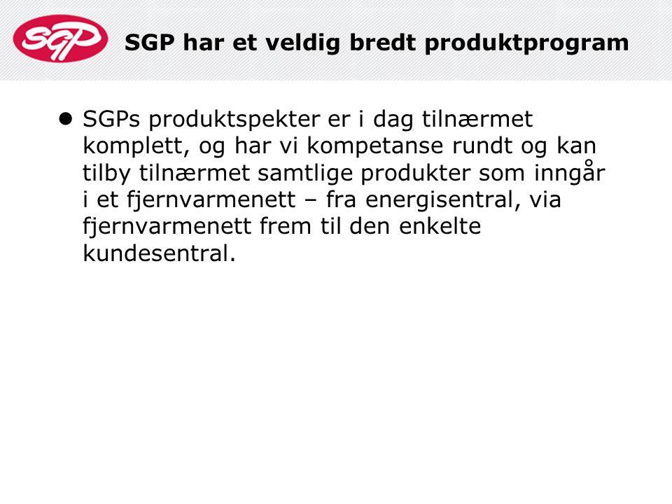 SGP har et veldig bredt produktprogram