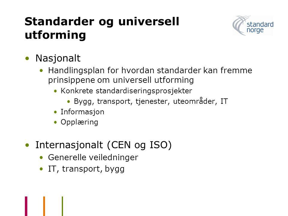 Standarder og universell utforming