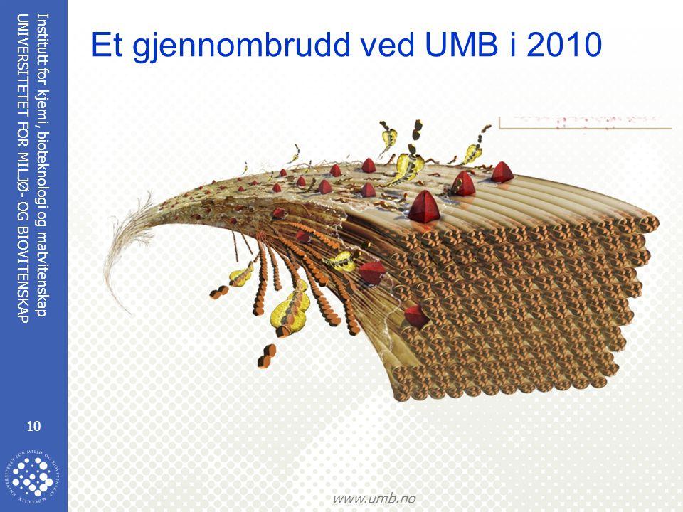 Et gjennombrudd ved UMB i 2010