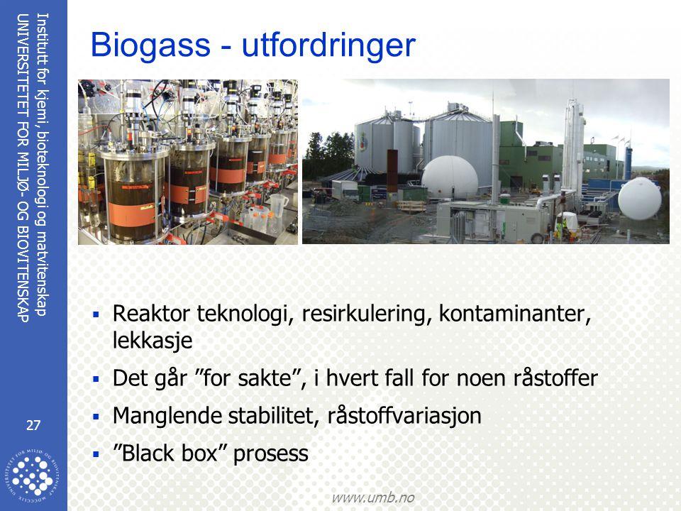 Biogass - utfordringer