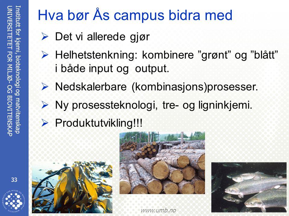 Hva bør Ås campus bidra med