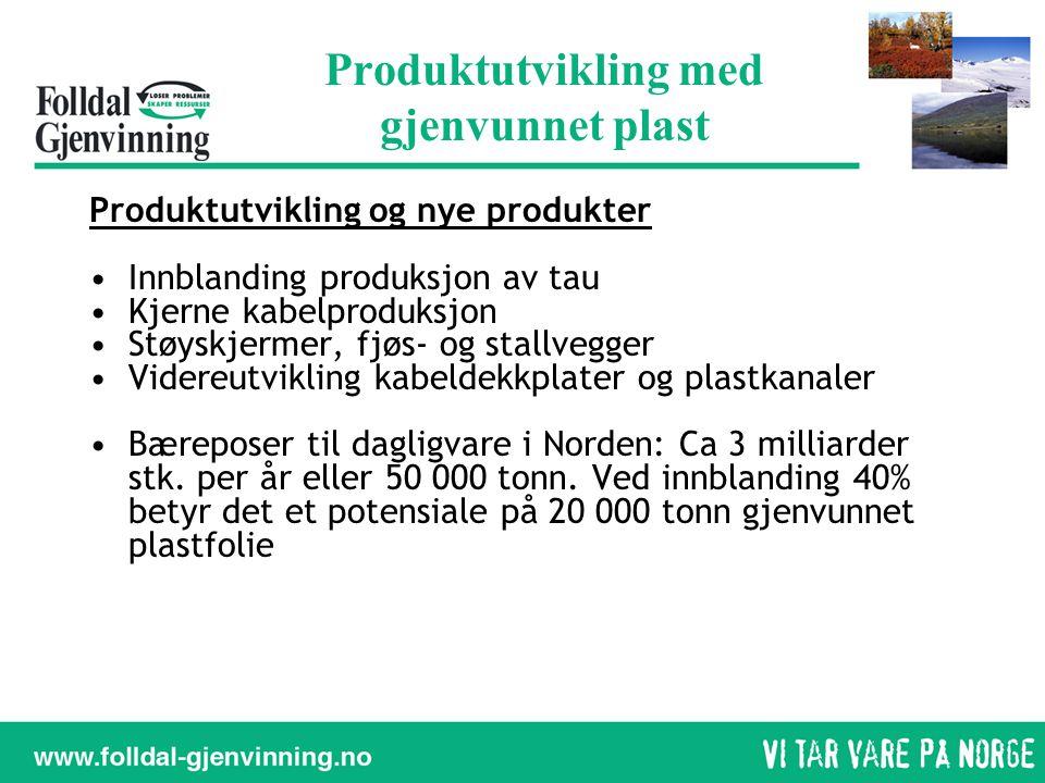 Produktutvikling med gjenvunnet plast