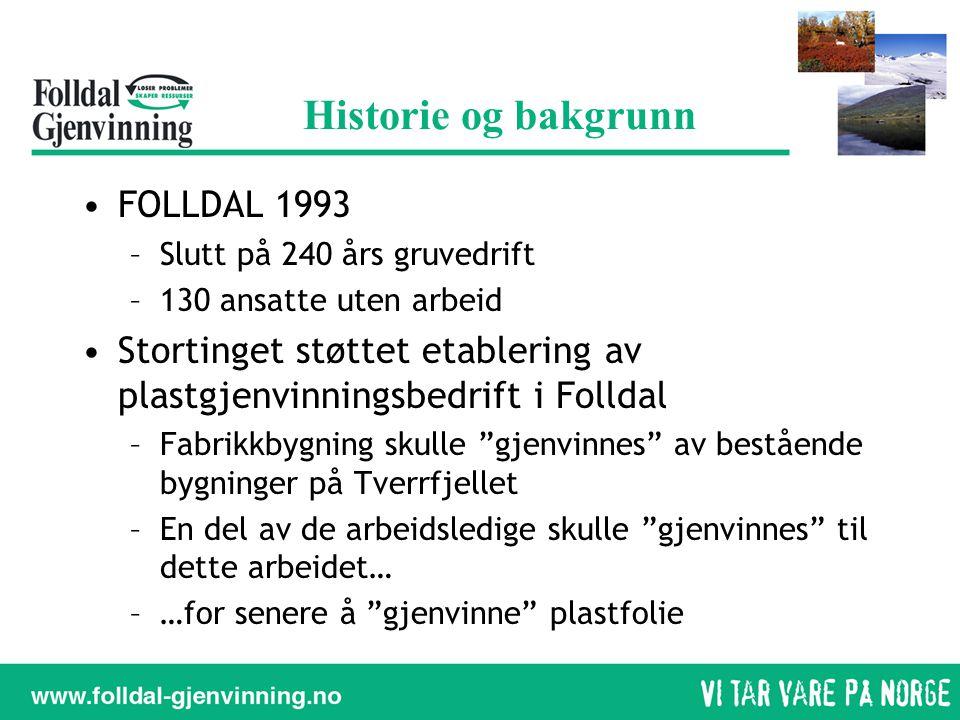 Historie og bakgrunn FOLLDAL 1993