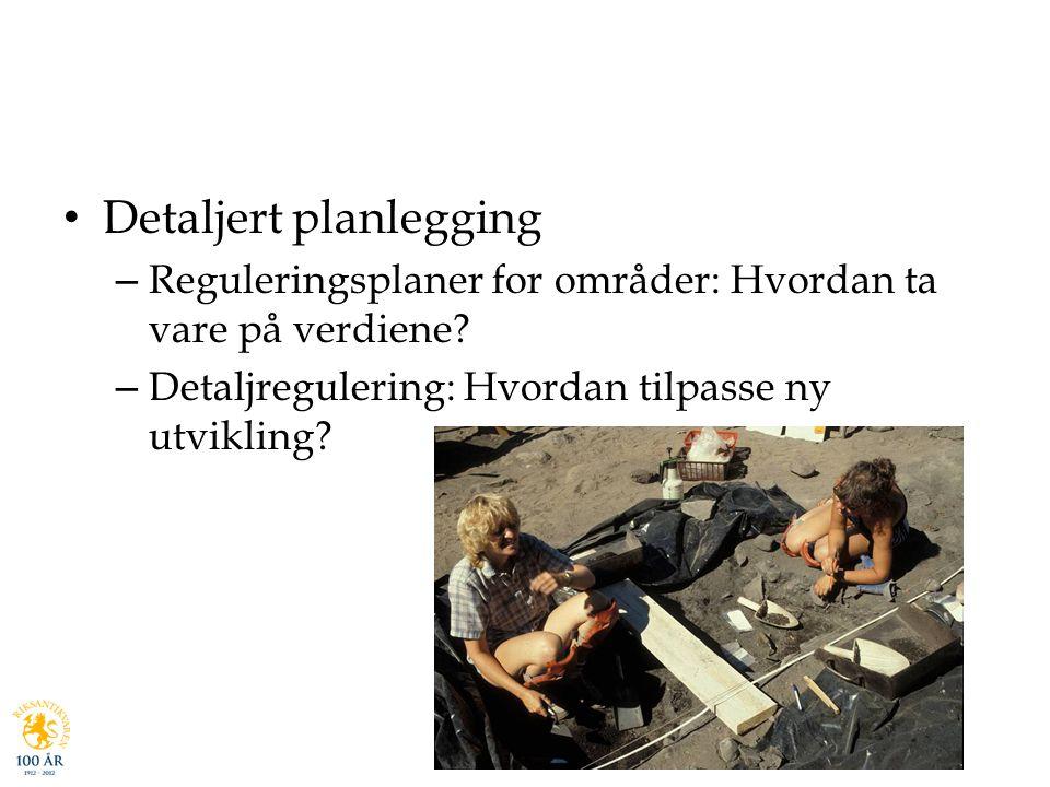 Detaljert planlegging