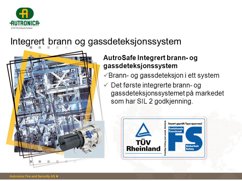 Integrert brann og gassdeteksjonssystem