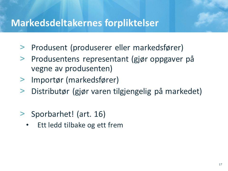 Markedsdeltakernes forpliktelser