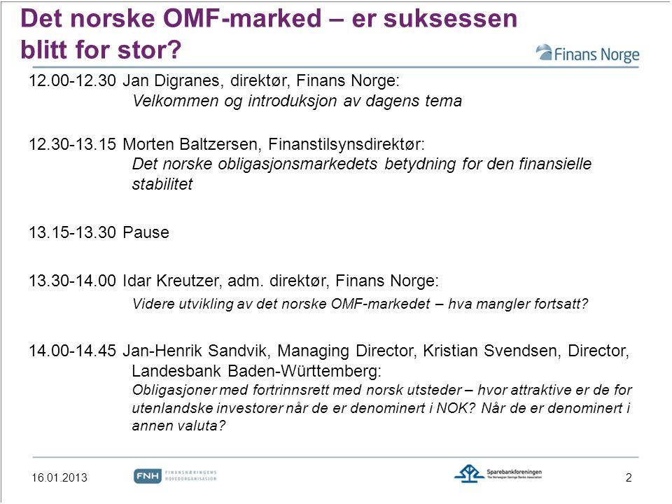 Det norske OMF-marked – er suksessen blitt for stor