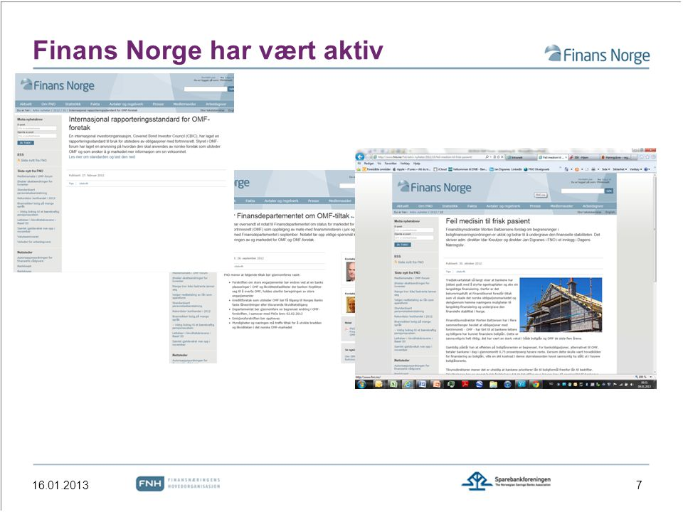 Finans Norge har vært aktiv