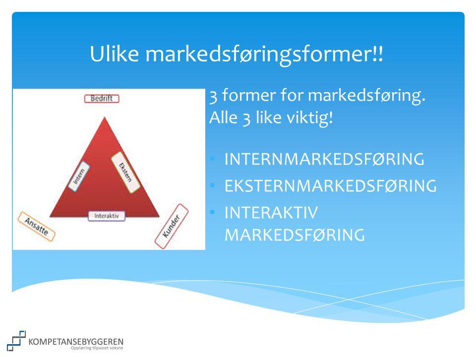 Ulike markedsføringsformer!!