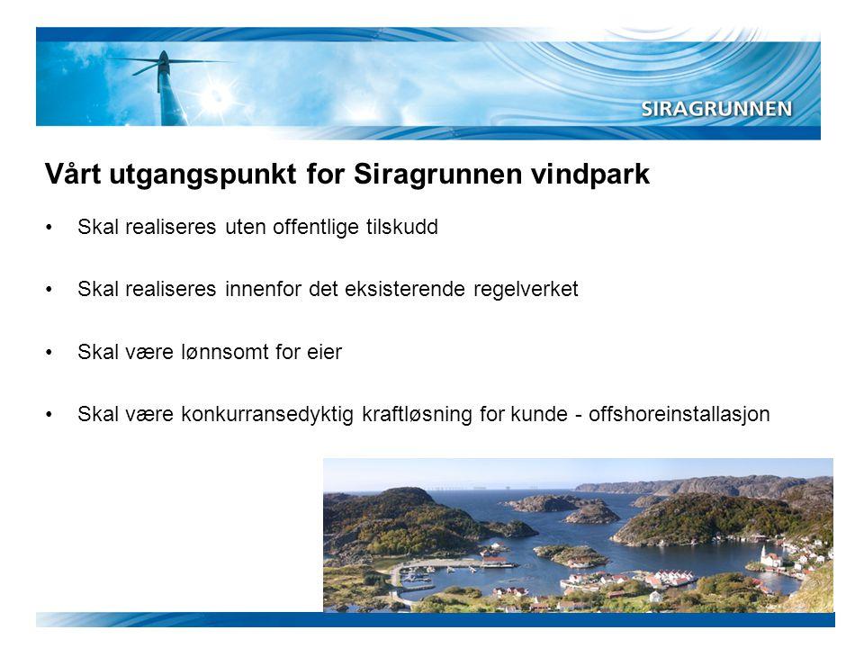 Vårt utgangspunkt for Siragrunnen vindpark