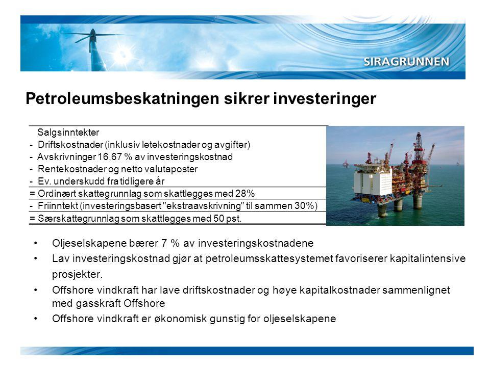 Petroleumsbeskatningen sikrer investeringer