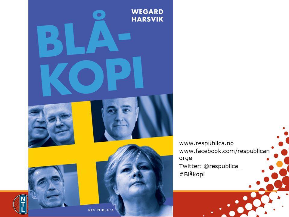 www.respublica.no www.facebook.com/respublicanorge Twitter: @respublica_ #Blåkopi www.respublica.no