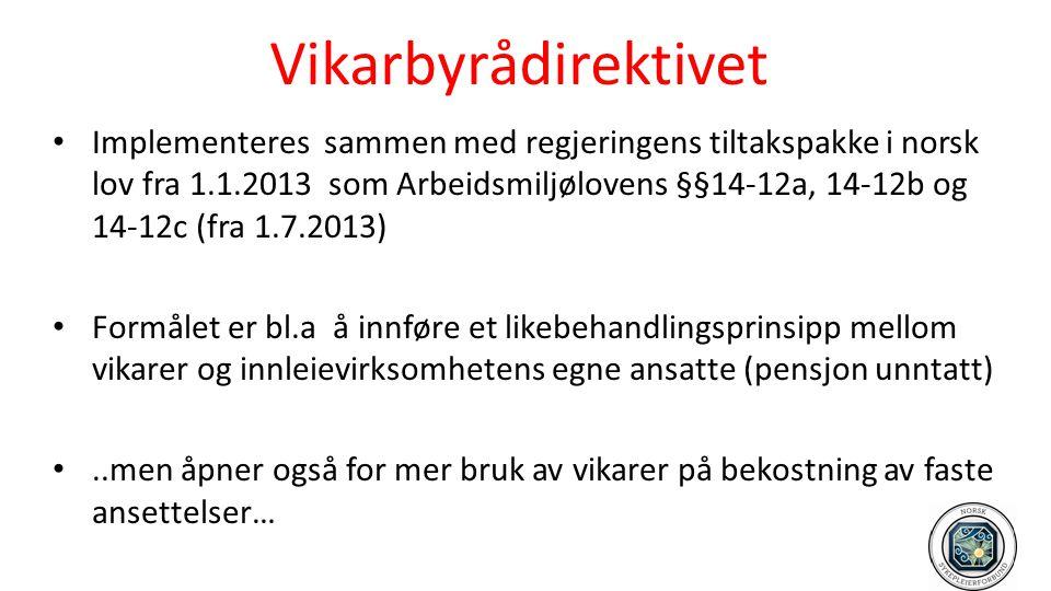 Vikarbyrådirektivet