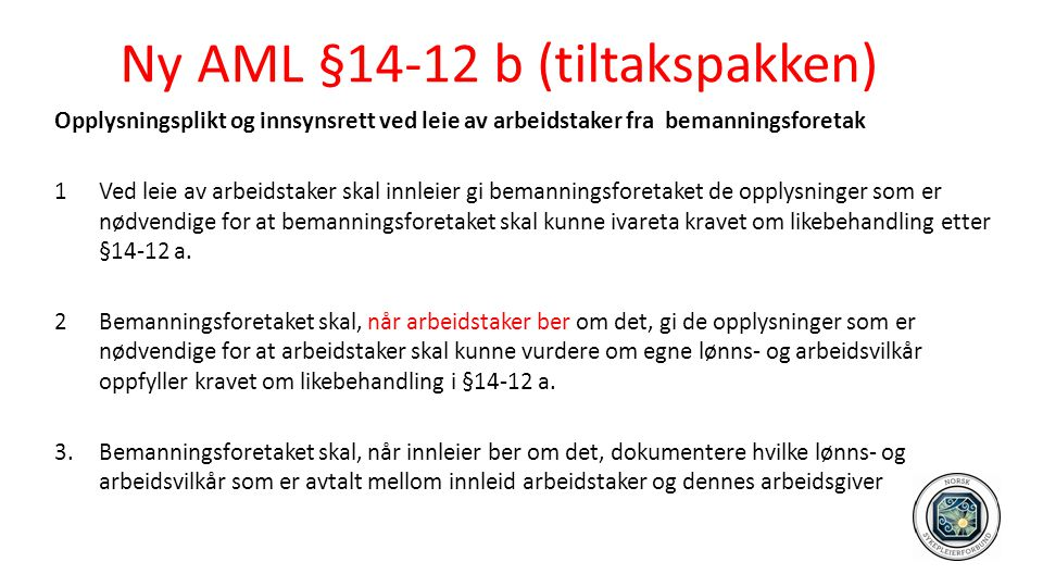 Ny AML §14-12 b (tiltakspakken)