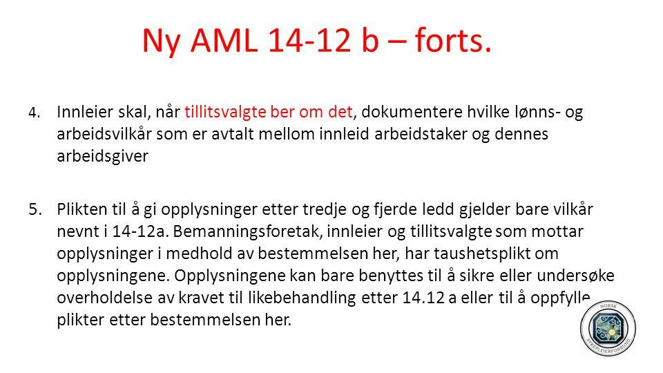 Ny AML 14-12 b – forts.