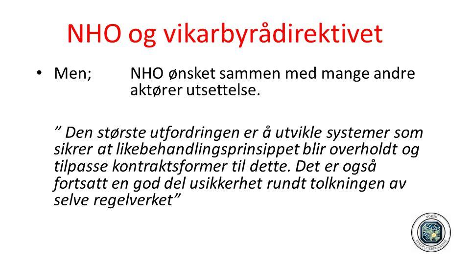 NHO og vikarbyrådirektivet
