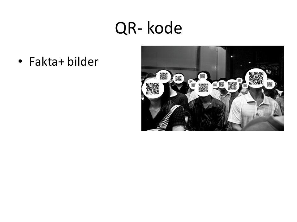 QR- kode Fakta+ bilder