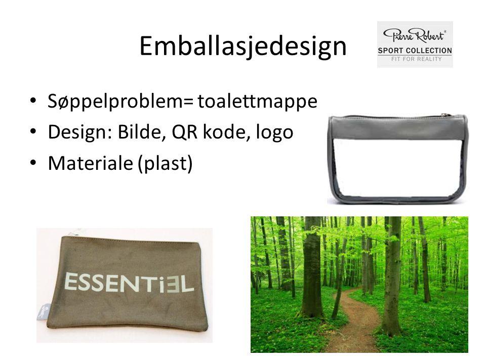 Emballasjedesign Søppelproblem= toalettmappe