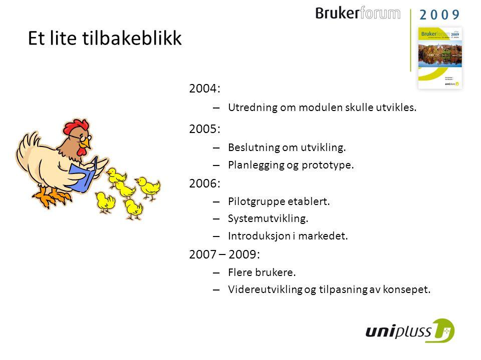 Et lite tilbakeblikk 2004: 2005: 2006: 2007 – 2009: