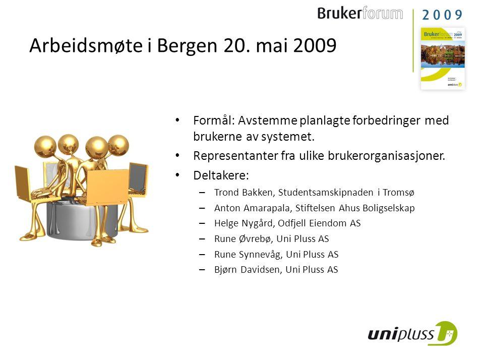 Arbeidsmøte i Bergen 20. mai 2009