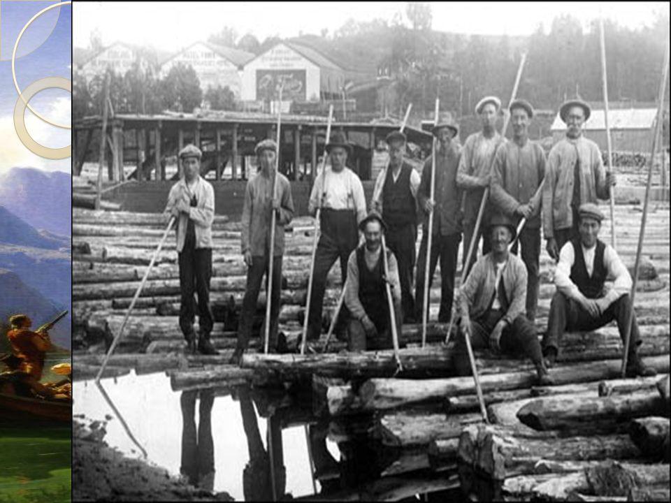 Skogbruk og trelast I innlandet stod skogdrift sentralt