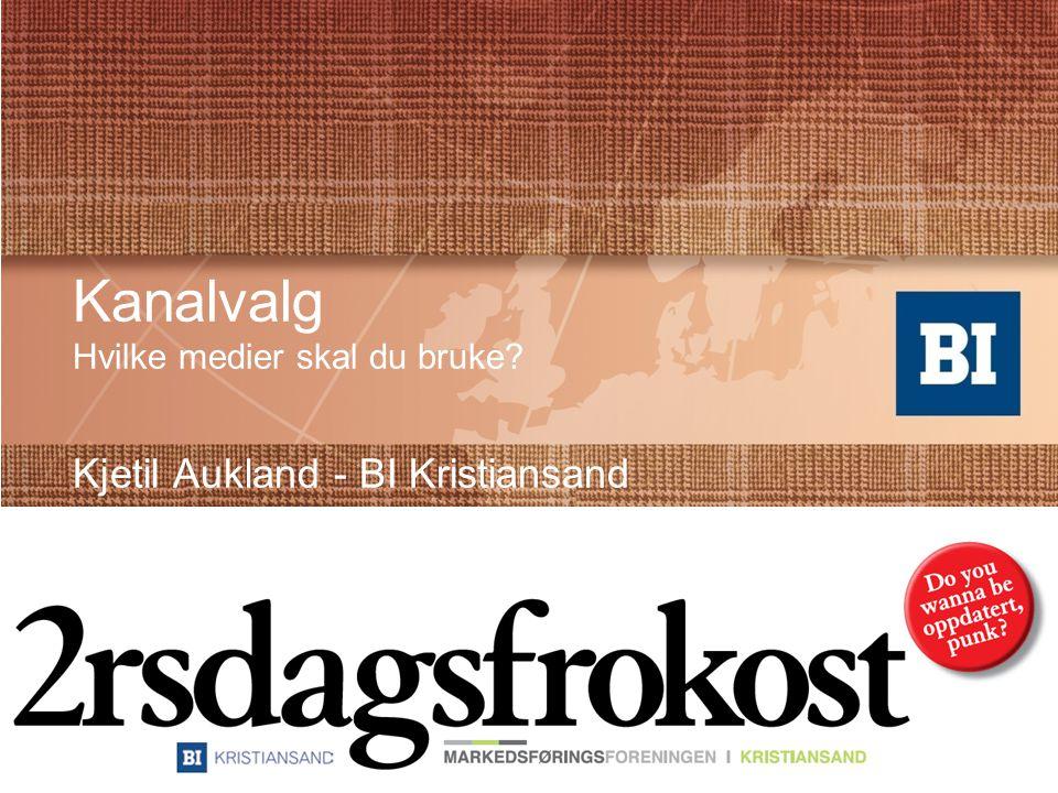 Kanalvalg Hvilke medier skal du bruke Kjetil Aukland - BI Kristiansand