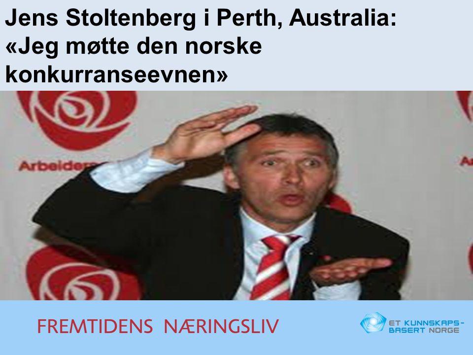 Jens Stoltenberg i Perth, Australia: