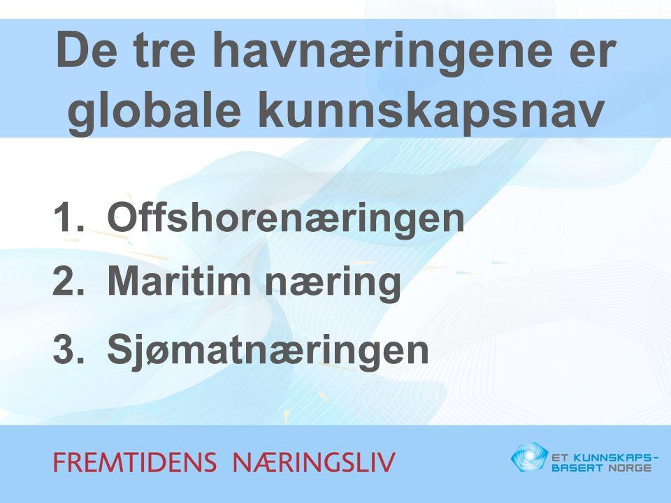 De tre havnæringene er globale kunnskapsnav
