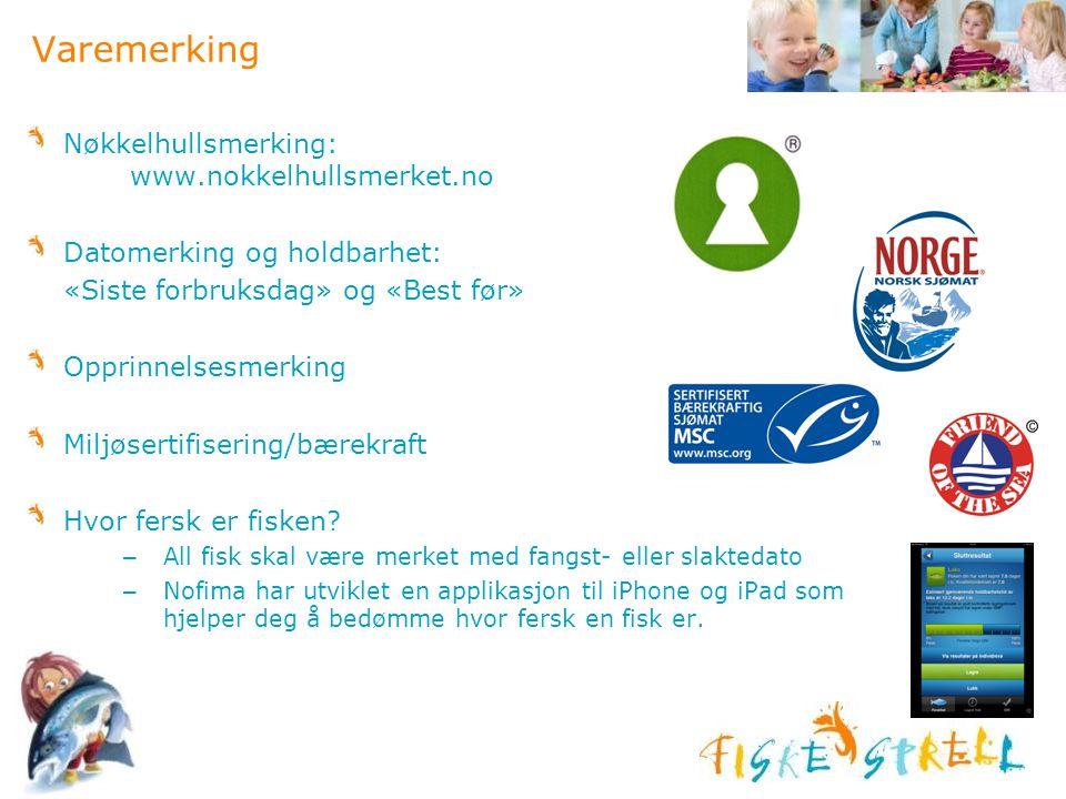 Varemerking Nøkkelhullsmerking: www.nokkelhullsmerket.no