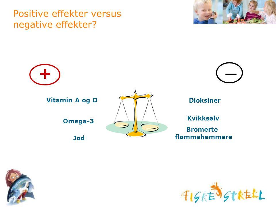 Positive effekter versus negative effekter