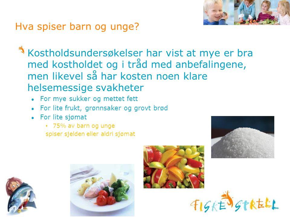 Hva spiser barn og unge