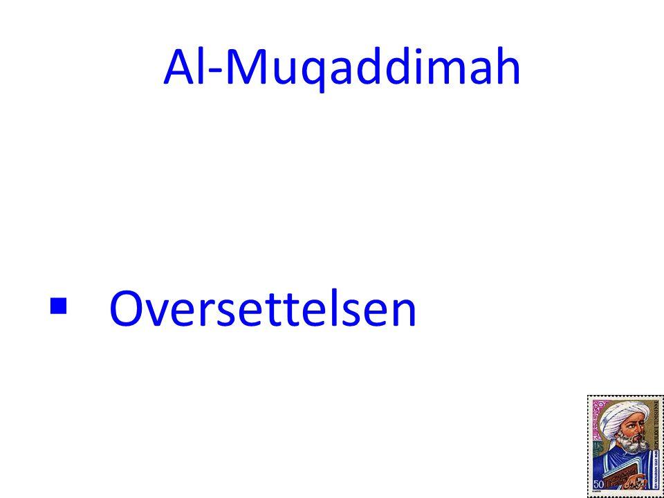 Al-Muqaddimah Oversettelsen