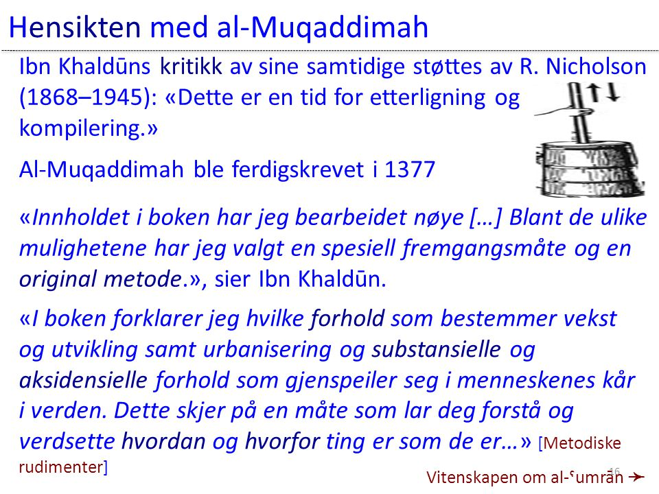 Hensikten med al-Muqaddimah