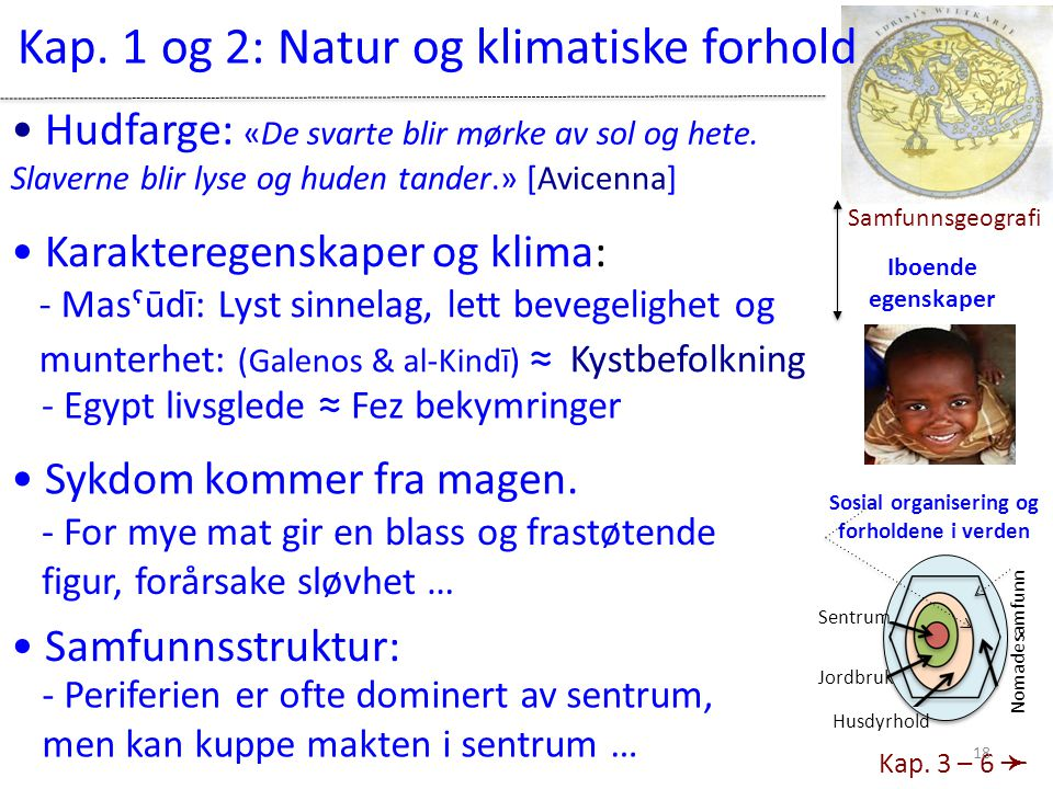 Kap. 1 og 2: Natur og klimatiske forhold