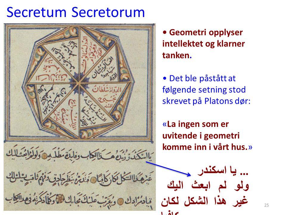 Secretum Secretorum يا اسكندر …