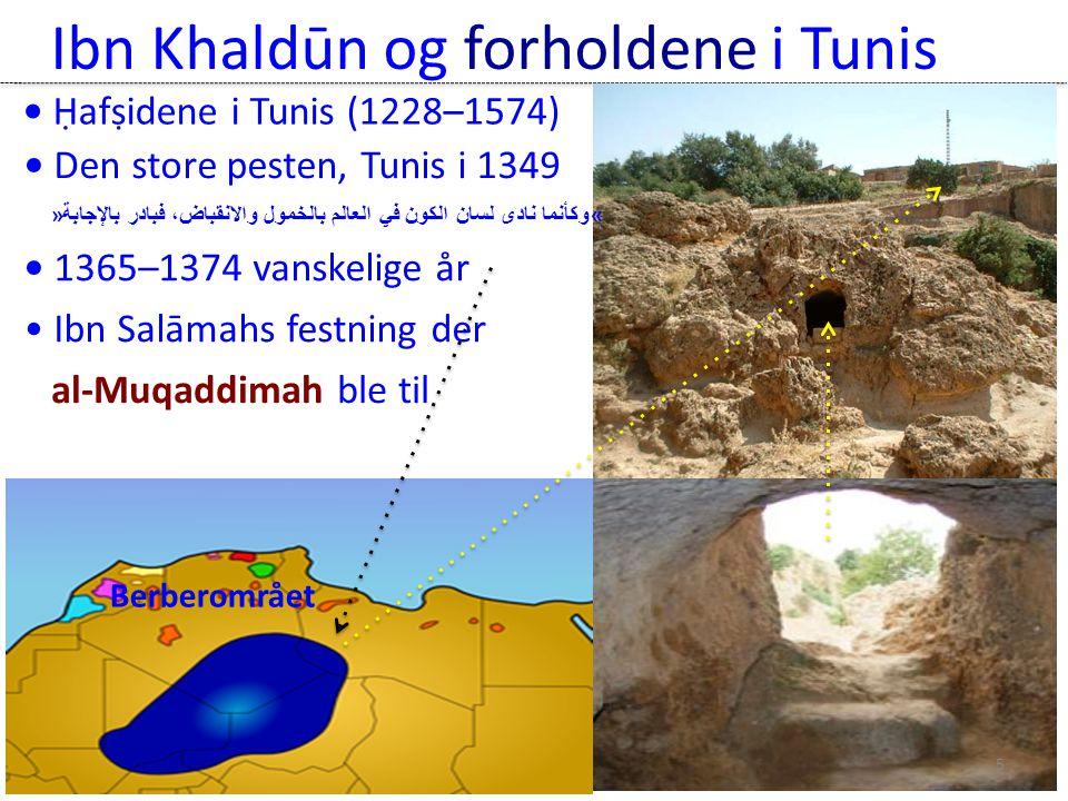 Ibn Khaldūn og forholdene i Tunis