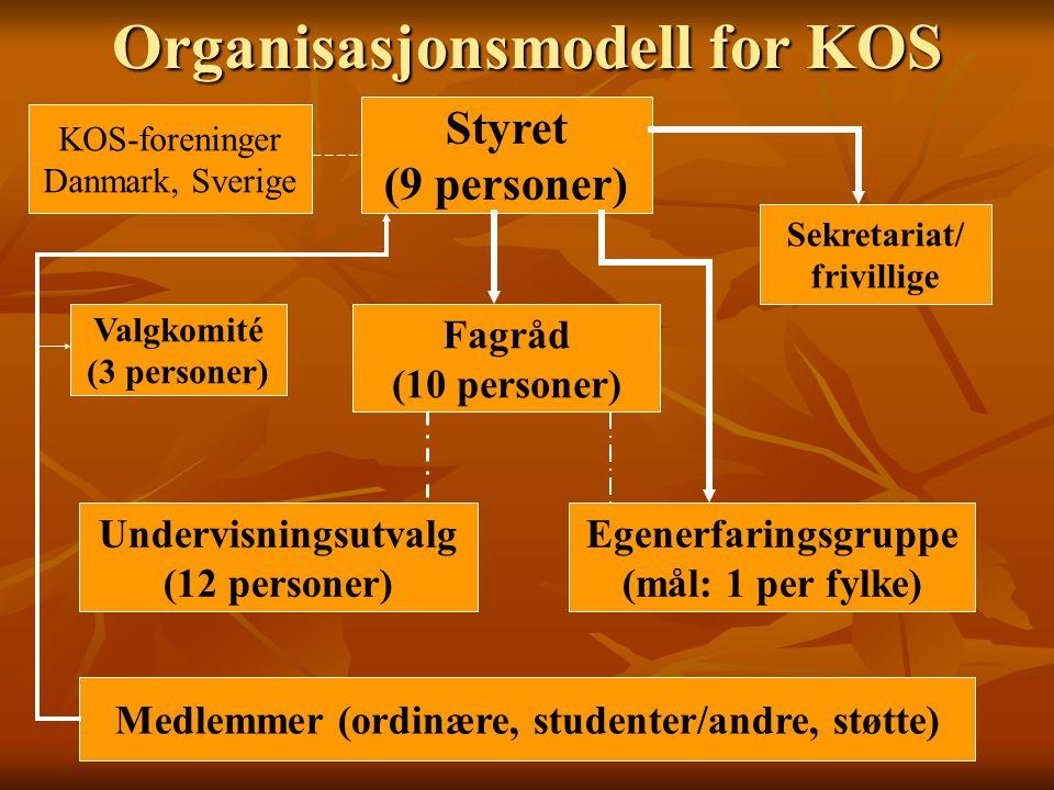 Organisasjonsmodell for KOS