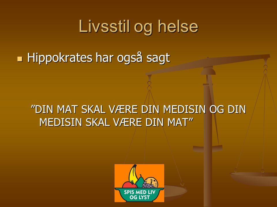 Livsstil og helse Hippokrates har også sagt