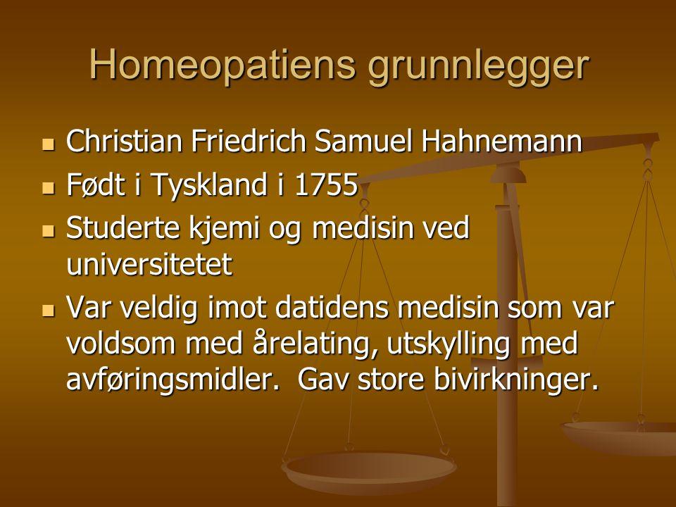 Homeopatiens grunnlegger