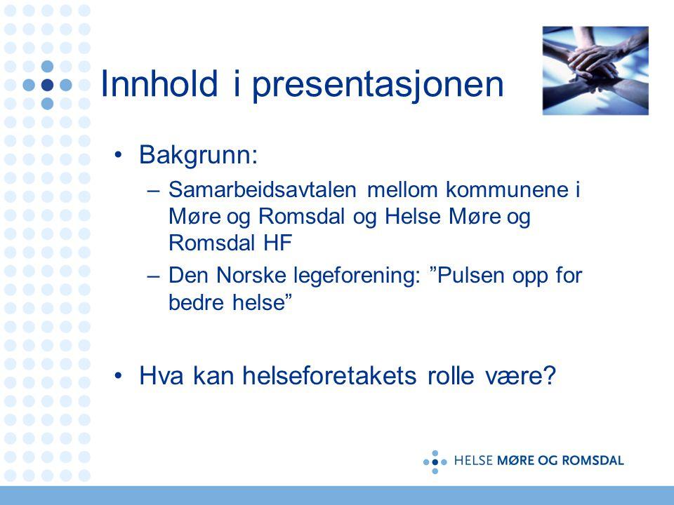 Innhold i presentasjonen