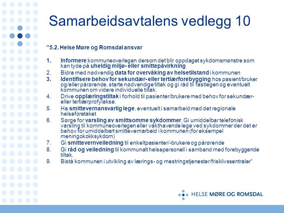 Samarbeidsavtalens vedlegg 10