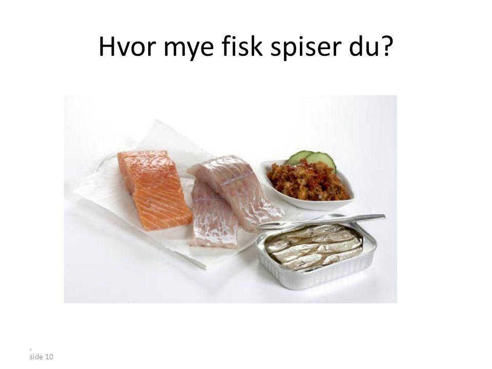 Hvor mye fisk spiser du