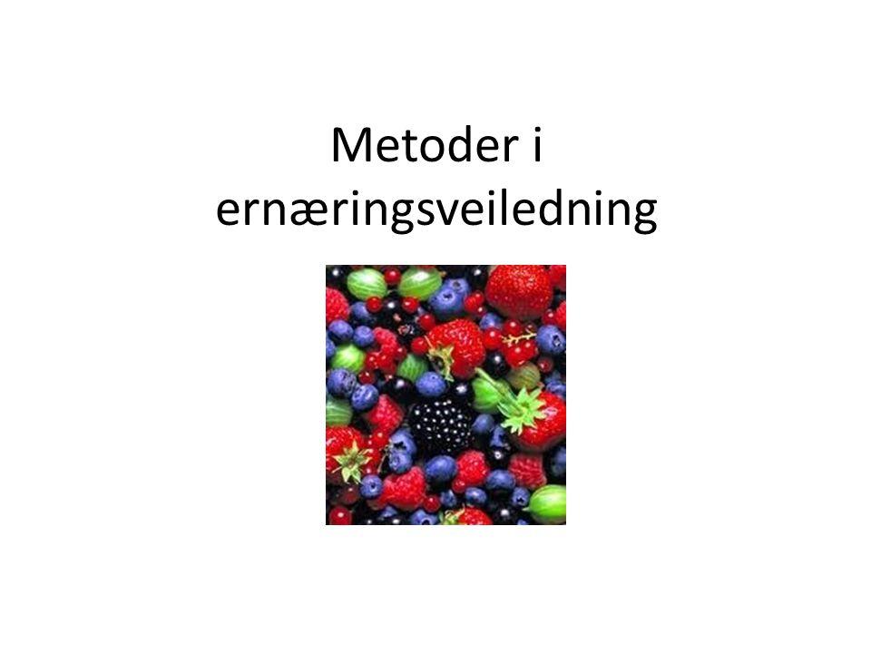 Metoder i ernæringsveiledning