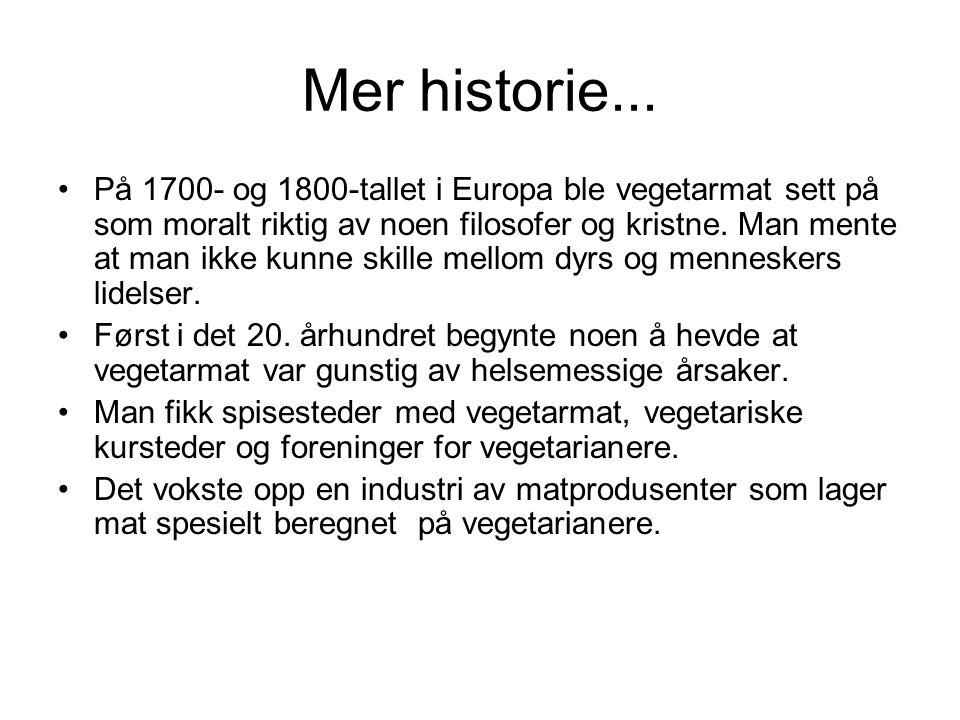 Mer historie...