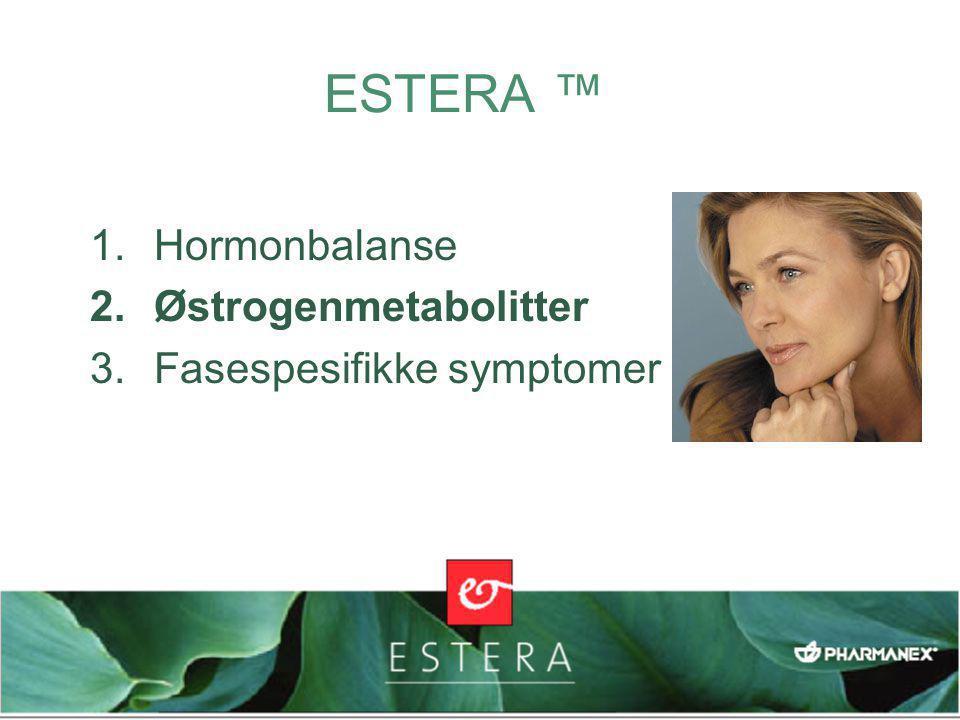 ESTERA ™ Hormonbalanse Østrogenmetabolitter Fasespesifikke symptomer