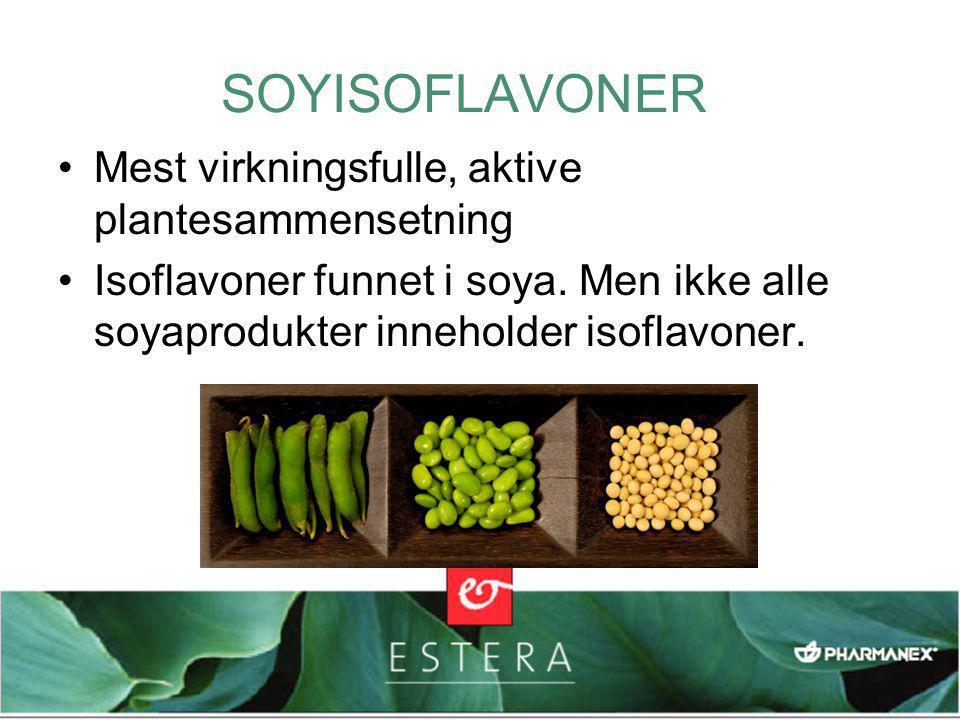 SOYISOFLAVONER Mest virkningsfulle, aktive plantesammensetning