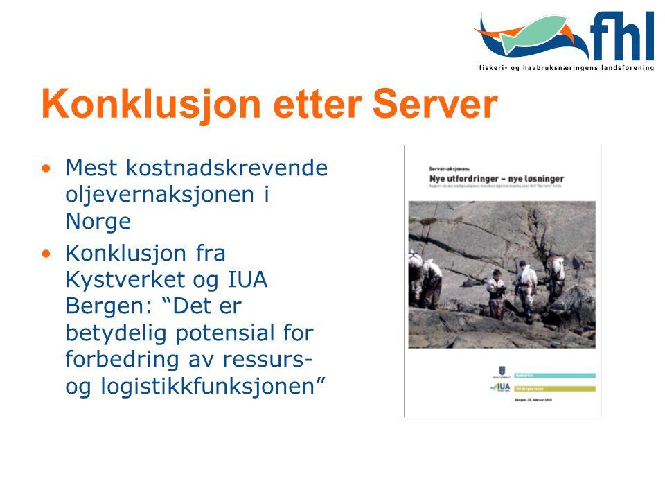 Konklusjon etter Server