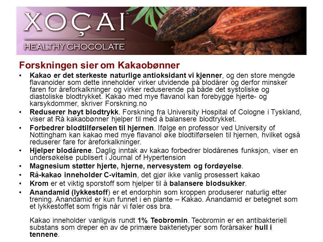 Forskningen sier om Kakaobønner