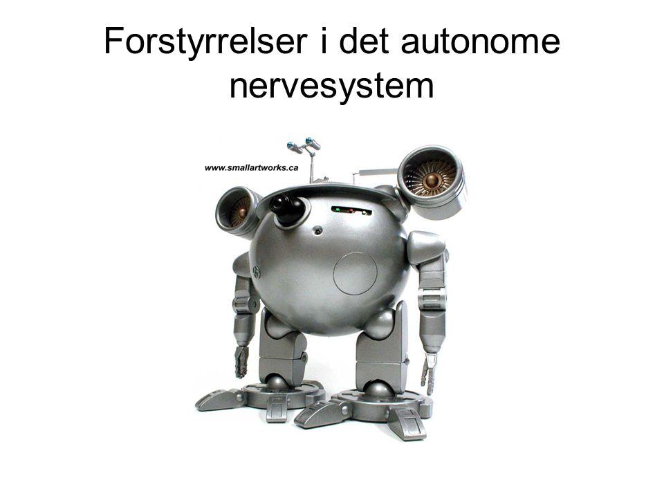 Forstyrrelser i det autonome nervesystem