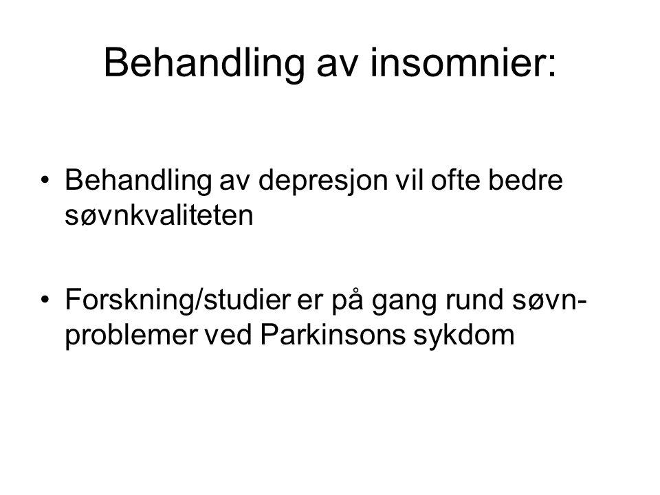 Behandling av insomnier: